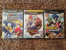 Sonic Heroes, Sonic Adventure Battle 2, Sonic Riders (Nintendo GameCube)