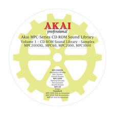 Akai MPC2000XL, MPC60, MPC2000, MPC3000 CD-ROM Sound Library Volume 1- Samples