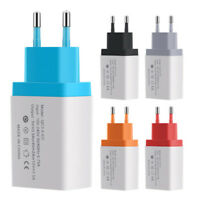 Universal QC 3.0 USB wall home travel fast charger adapter EU Plug J gf