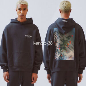 FOG fear of god Essentials Flower Print Couple Loose Cotton Hoodie