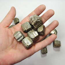 100g (About 3 ~ 7 pcs) RARE ! NATURAL Iron Pyrite Cubes STONE SPECIMEN