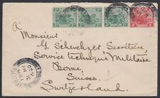 MALAYA, 1920. Cover 40, 44, Ipoh - Bern, Switzerland
