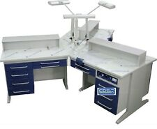 Dental 3 Person Workstation Bench AX-YT1 Laboratory W/Dust Collectors