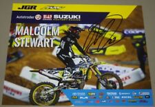 2018 Malcom Stewart signed Joe Gibbs Racing Suzuki Supercross Motocross postcard