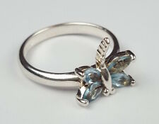 """Bague """"Papillon"""" Argent Massif 925 Taille 54 Sterling Silver Ring Size 6.5 / 7"""