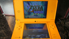 DSI XL YELLOW CONSOLE BUILT IN ZELDA 4 SWORDS 25TH ANNIVERSARY EDITION