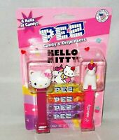 HELLO KITTY PEZ Dispensers 2 pack Includes 4 Rolls of Candy UNICORN & RAINBOW