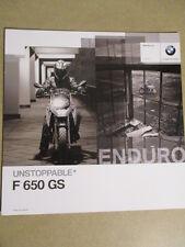 CATALOGUE MOTO : BMW : F 650 GS   10/2009