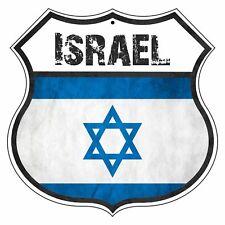 ISRAEL Country Vintage Flag Novelty Highway Shield Metal Sign
