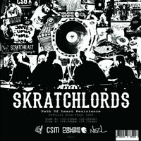 """Skratch Lords Show Vinyl Skipless Scratch Red Vinyl CUT and Paste Records 7"""""""