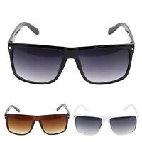 Vintage Women's Men's Rivet Plastic Square Frame Eyes Protection Sunglasses