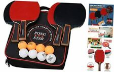 New listing Ping Pong Paddles Table Tennis Set with 4 Premium Rackets, 8 Game Balls &