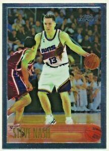 1996 Topps Chrome Steve Nash Rookie Card Phoenix Suns RC NM+ #182