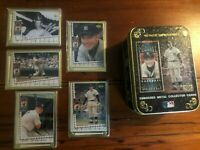 Mickey Mantle 1995 Upper Deck Metallic Impressions 5 Metal Card Set & Tin- Nice