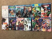 (Lot Of 12) DC Comics Rebirths Harley Quinn 1, Teen Titans 1, Batman 1, Aquaman