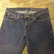 Gap Premium Long and Lean Sz 6 / 28 Dark Blue Denim Skinny Boot Cut Jeans