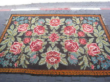 Special bessarabian kilim rug hand woven antique 280x186-cm / 110.2x73.2-inches