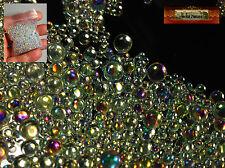 M01290 MOREZMORE 1 oz Mix 2-3-4-5 mm Iridescent Glass Bubbles Microbeads T20
