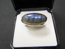 925er Silberring Labradorit Stein Ringgroße 56 Ringkopf 2,3x1 cm gewicht 8 gramm