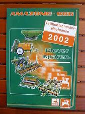 AMAZONE BBG - Frühentscheider-Nachlässe 2002 - Prospekt Brochure 02.2002 (0611-2