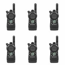 6 Motorola CLS1110 UHF Business Two-way Radios + Rebate for a Free Radio!