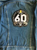 "OAKLAND RAIDERS 60TH ANNIVERSARY PATCH 10""+ JACKET STYLE 2019 - 2020 SEASON"