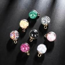 8Pcs Fashion Star Glass Ball Beads Pendant For DIY Jewelry Making Accessories UK
