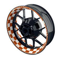 Felgenaufkleber Motorrad Felgenrandaufkleber  Racingflag DGN1 orange - W