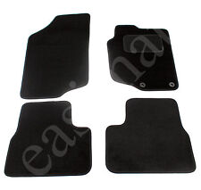 Peugeot 207 2006 Onwards Tailored Carpet Car Mats Black 4pc Floor Mat Set