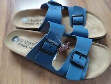 AUTENTI BY PENTA Men's Double Buckle blue Sandals-holiday sun- uk 10- Leather