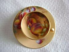 Royal Worcester Hand Painted Fruits Miniature Cup and Sugar Artist Signed