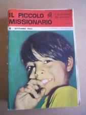 IL PICCOLO Missionario n°9 1963 - con NEROFUMO di Perogatt   [G401]