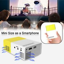 Multimedia Mini 1080P 3D Portable LCD LED Home Theater Projector HDMI AV EU DA