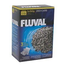 Fluval 150g Zeo-Carb Zeocarb Media 105 205 206 306 406 305 405 FX5 FX6 3pk
