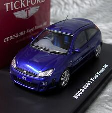 Ford Focus RS Mk1 2002-2003 Imperial Blue IXO Premium-X Tickford RHD 1:43 Model