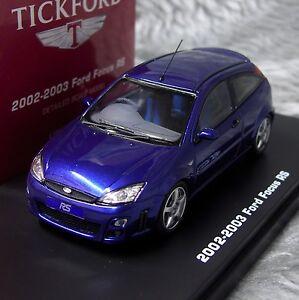 Ford Focus RS Mk1 2002-2003 Imperial Blue IXO Premium-X Tickford RHD 1:43 Model