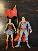 DC Direct Red Son Elseworlds Series 1 Loose Figure Set Superman Wonder Woman