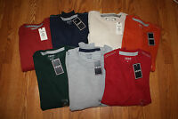NWT Mens IZOD Long Sleeve Crew Neck Pullover Sweat Shirt Size M L XL 2XL