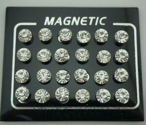 12 Pair Magnetic Ear Studs Earrings for Women Fake Piercing Fake Nose Ring