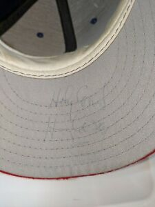 """Harry Caray Signed Cubs Hat """"Holy Cow"""" Diamond Collection New Era Made In USA 7⅛"""