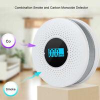 2 in 1 CO & Smoke Alarm Carbon Monoxide Detector Gas Warning Sensor Alert Alarm