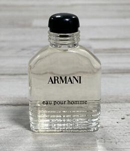 Vinrage Armani Eau Pour Homme 1.7 OZ (50ML) EDT Cologne Spray Rare Older Formula
