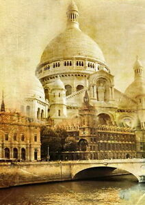 Home Decor Paint By Numbers Kit 50*40cm 8201 Notre-Dame Cathedral AU Stocks Sale