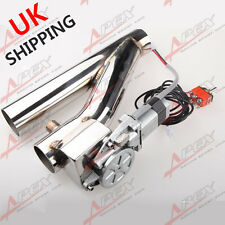 """2.5"""" Electric Exhaust Downpipe Testpipe Catback E-Cutout Valve Switch Control UK"""