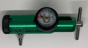 Oxygen Tank Regulator Model 0-15 LPM. Barb Outlet NEW