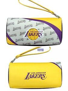 Los Angeles Lakers NBA Curve Zip Organizer Ladies Wallet