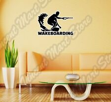 "Wakeboard Wakeboarding Bindings Water Wall Sticker Room Interior Decor 25""X20"""