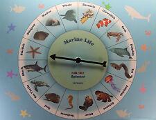 MARINE LIFE SPINNER GAME Sea Ocean Animal Education School Materials Children