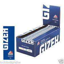 100 libritos de  Papel de fumar Gizeh Original. Similar al Smoking Naranja