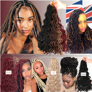 "18""/ 20""  Crochet Curly Faux Lock Dreadlocks Braiding Hair 24 Strands In A Pack"